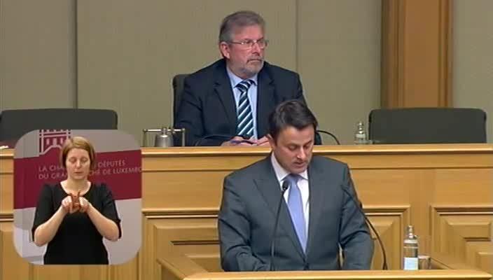 Déclaration du Premier Ministre Xavier Bettel sur le programme gouvernemental devant la Chambre des Député