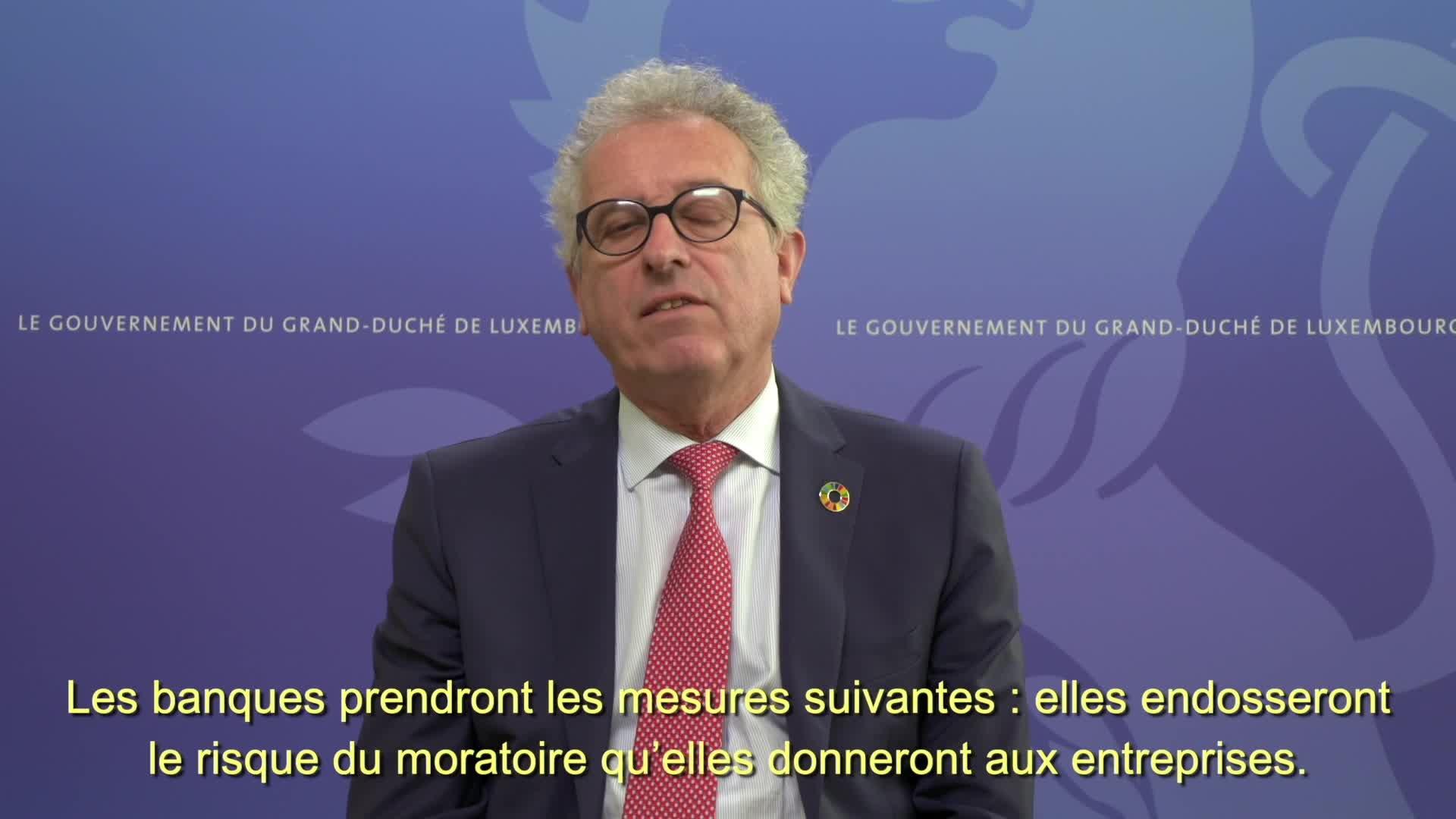 Covid19 - The Minister of Finance, Pierre Gramegna, informs