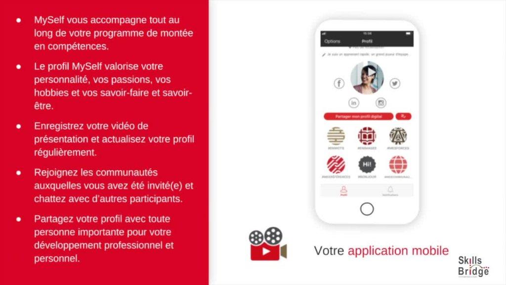 MySelf : télécharger l'application et se connecter