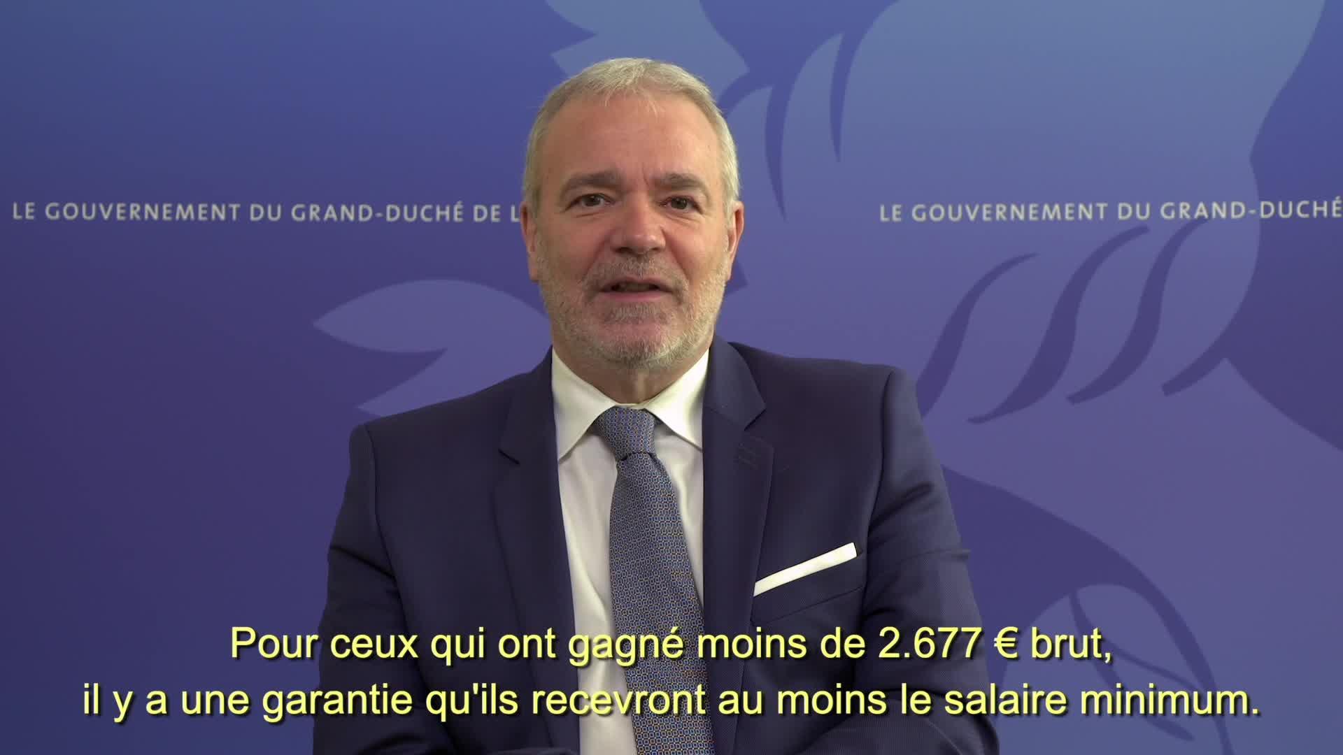 Covid19 - Le Vice-Premier ministre, Dan Kersch, informe (Travail, Emploi, Économie sociale et solidaire)