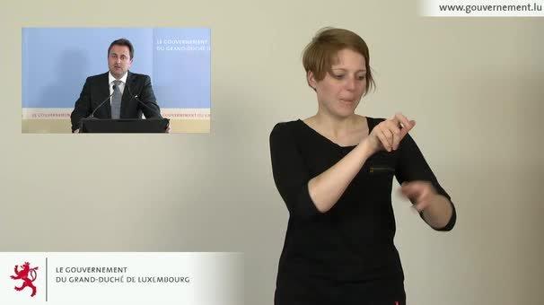 Interprétation en langue des signes du briefing