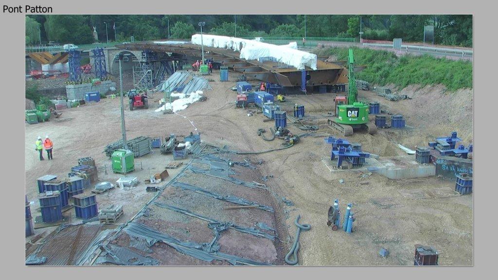 Nouveau pont Patton à Ettelbruck - Lancage 1ere partie