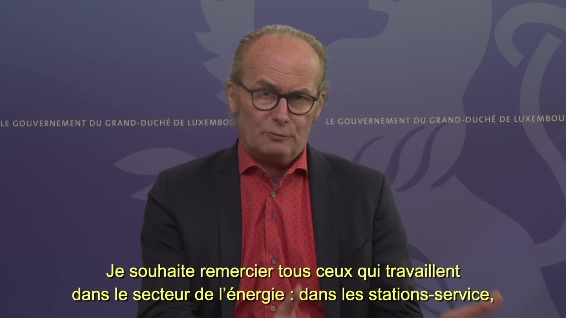Covid19 - Le ministre de l'Énergie, Claude Turmes, informe
