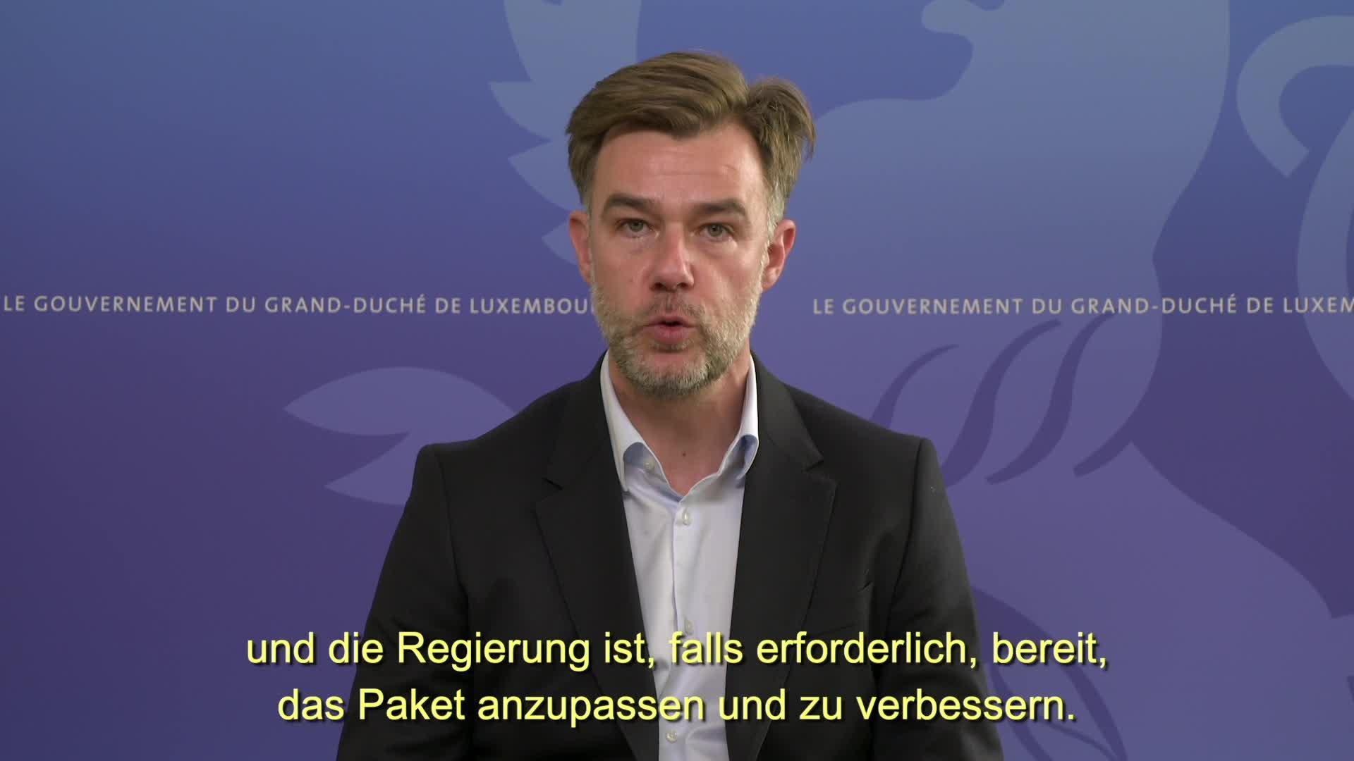 Covid-19 : Der Minister für Wirtschaft, Franz Fayot, informiert