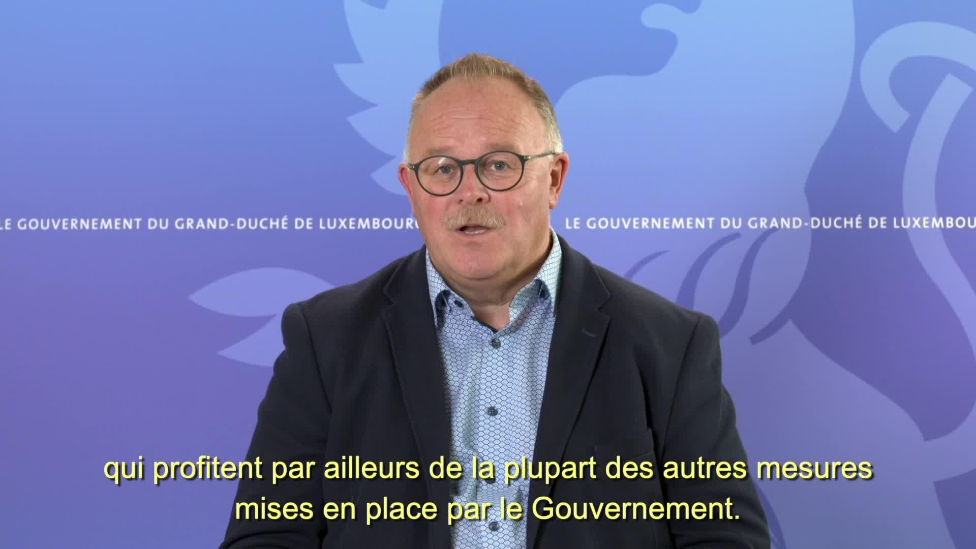 Covid-19 : Le ministre de l'Agriculture, de la Viticulture et du Développement rural, Romain Schneider, informe